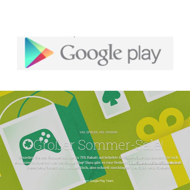 Google Play Summer Sale – viele Apps und Spiele reduziert