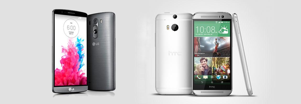 Smartphone-Vergleich: LG G3 vs. HTC One M8