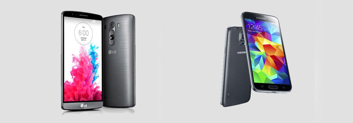 Vergleich LG G3 und Samsung Galaxy S5
