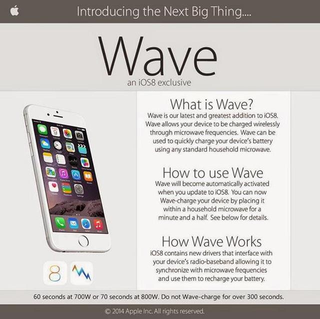 Schlechter Scherz: iPhone 6 lässt sich nicht in der Mikrowelle laden