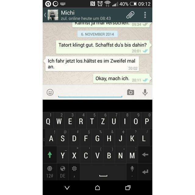 WhatsApp blaue Häkchen