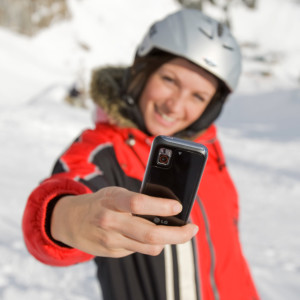 Smartphone im Winter