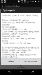 Android 5.0 für HTC One M8
