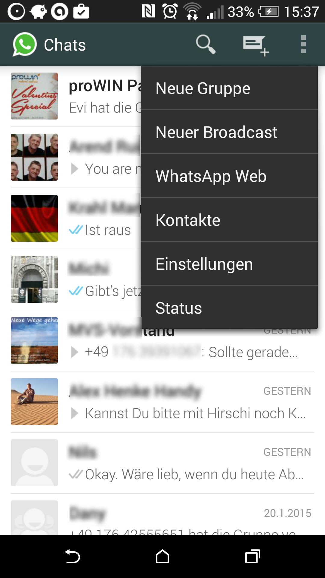 Browser öffnen Handy