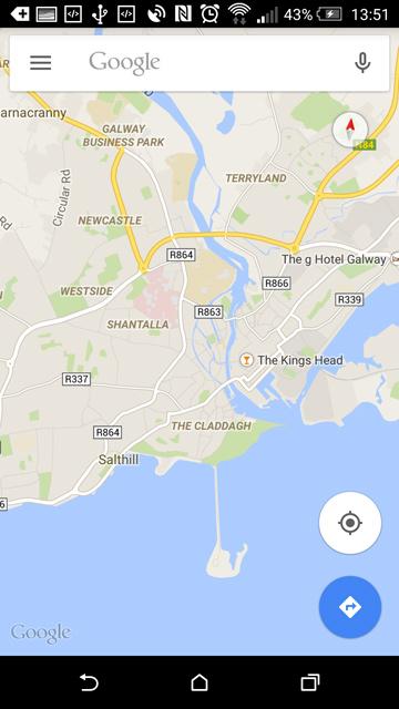 Kartenansicht in Google Maps