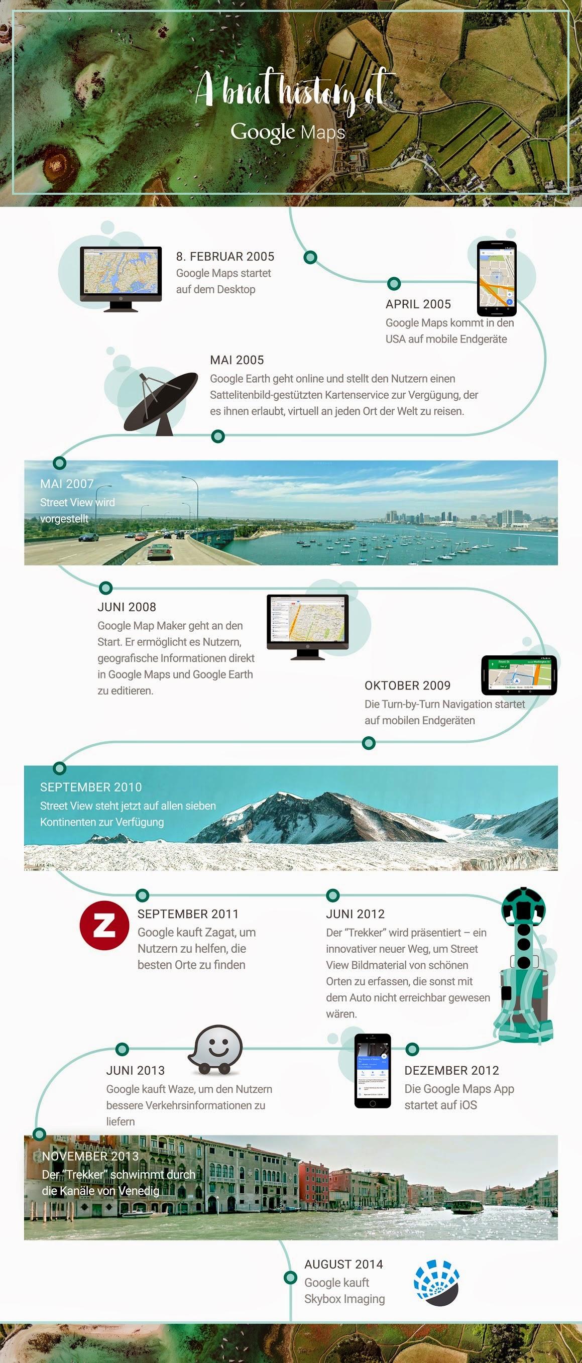 Infografik 10 Jahre Google Maps