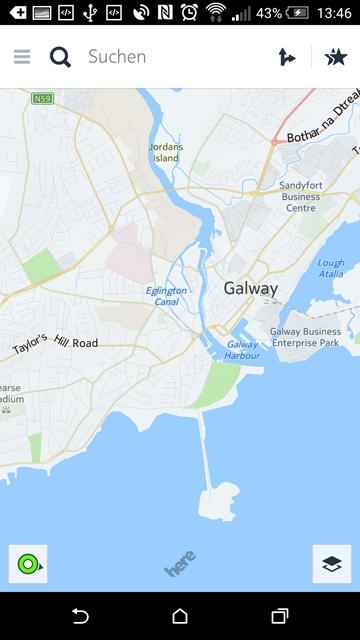 Kartenansicht in Here Maps