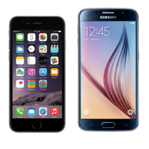 iPhone 6 und Samsung Galaxy S6